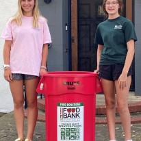 MK Lutz chair food collection initiative that raised more than 1500 pounds of food during summer of COVID-19